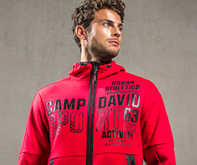 CAMP DAVID & SOCCX | Softshelljacke mit Steppeinsatz und