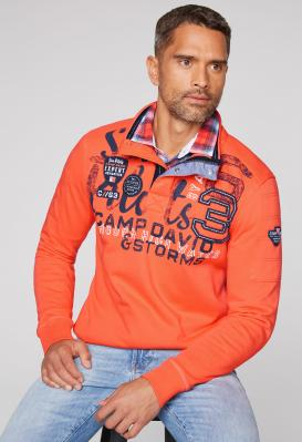 Sweatshirt mit Troyerkragen