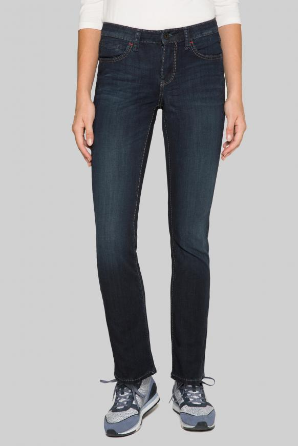 Bi-Elastic Jeans RO:MY mit Used-Waschung Regular Fit deep blue used