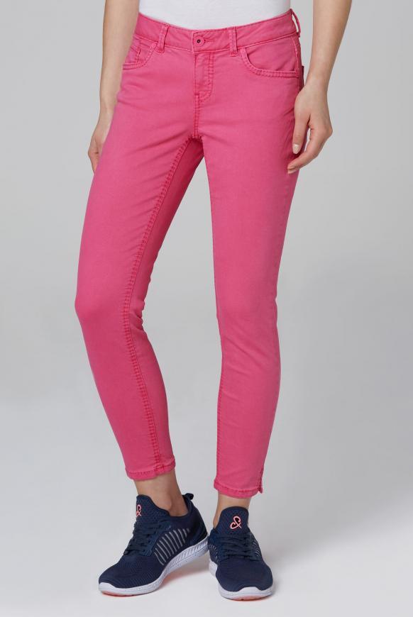 Coloured Denim MI:RA mit verkürztem Bein oriental pink