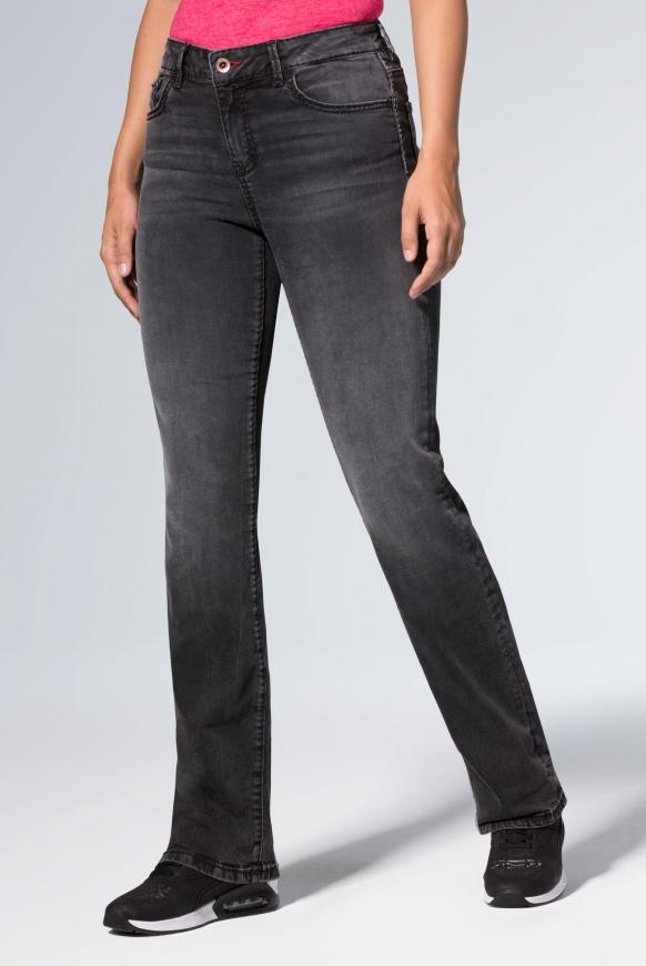 Comfort Shape Jeans EL:KE mit hoher Leibhöhe anthra used