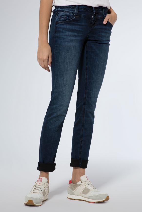 Destroyed Jeans KA:RA mit dunkler Waschung blue black vintage