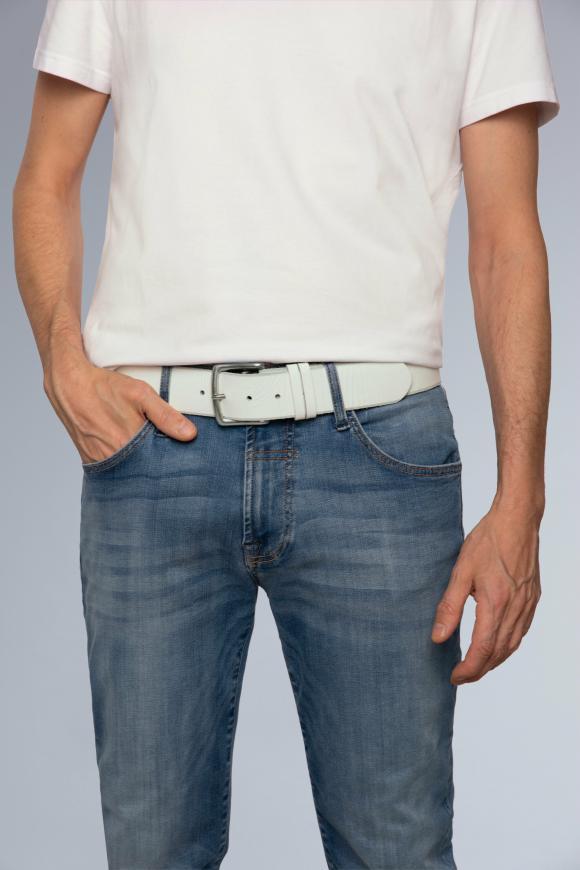 Gürtel mit Used-Optik white