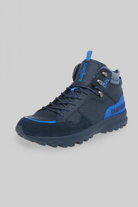 Hiking Sneaker mit Logo-Details deep sea