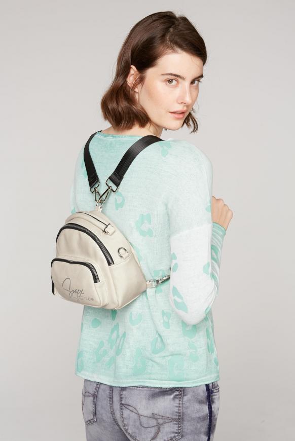 Hybrid Bag aus Kunstleder offwhite