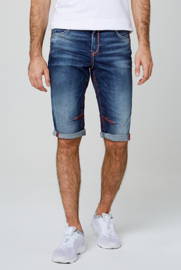 JA:CK Skater Shorts mit farbigen Nähten dark used