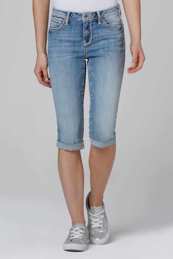 Jeans Bermuda RO:MY mit Vintage Look light used