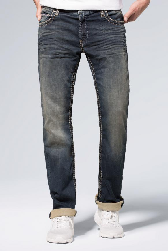 Jeans CO:NO aus Sweatmaterial im Denim Look blue black jogg