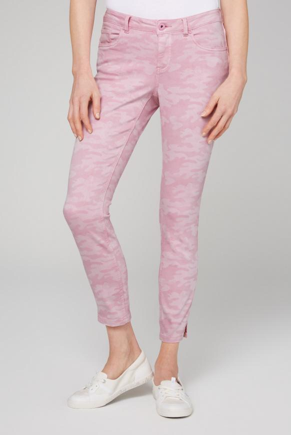Jeans MI:RA mit All Over Print pink shell