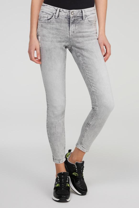 Jeans MI:RA mit Back Prints grey used printed