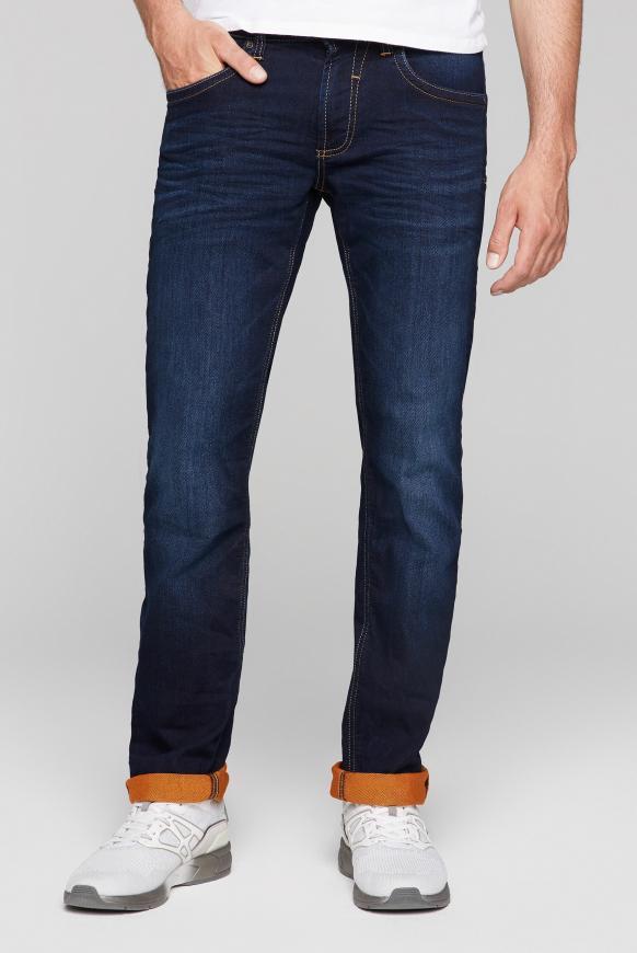 Jeans NI:CO aus Sweatmaterial dark blue jogg