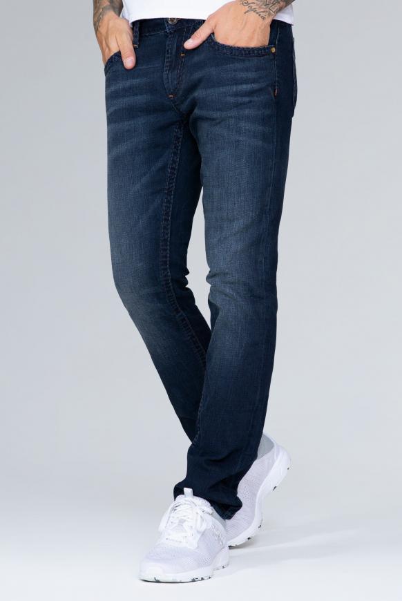 Jeans NI:CO mit tonigen Nähten Regular Fit blue black vintage