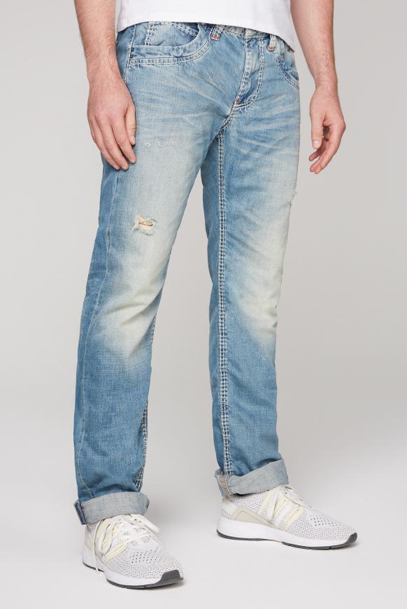 Jeans RU:SL mit Destroy-Effekte vintage blue