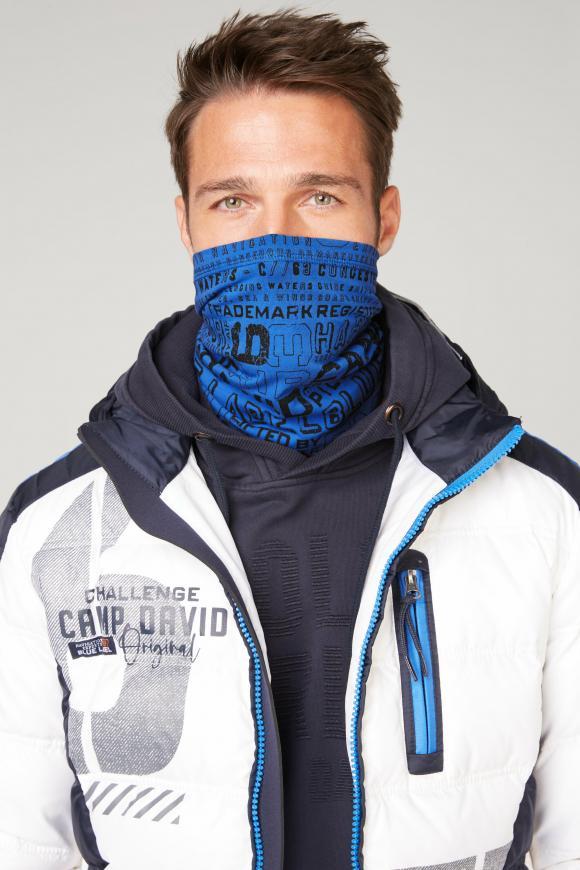 Loop-Schal-Maske mit Logo Print coastal blue