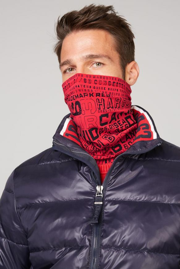 Loop-Schal-Maske mit Logo Print speed red