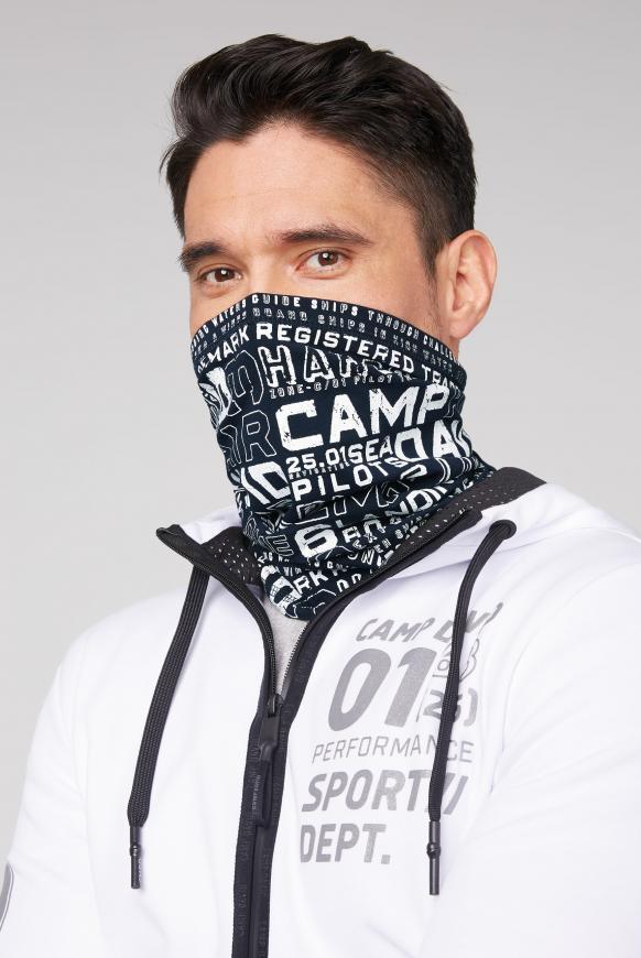 Loop-Schal-Maske mit Used Print blue navy