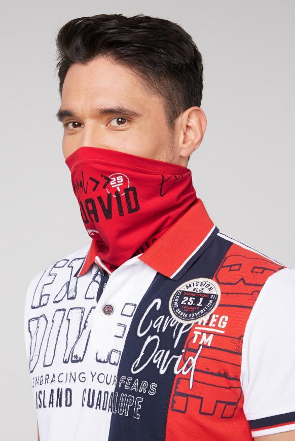 Loop-Schal-Maske mit Used Print speed red