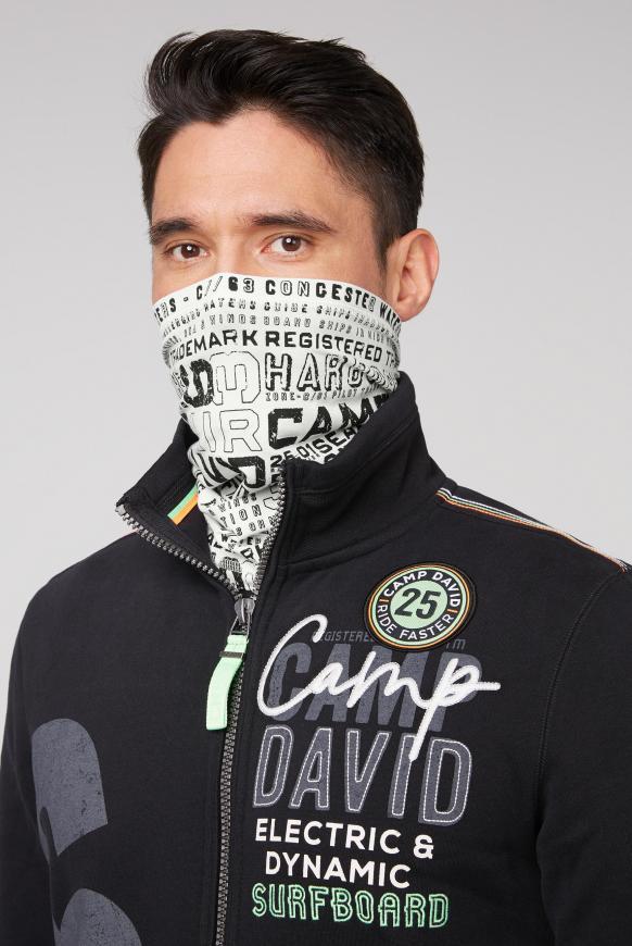 Loop-Schal-Maske mit Used Print offwhite