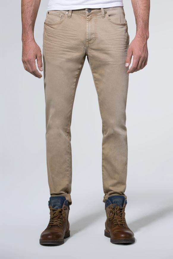 Mit schmalem Bein und Used-Waschung Jeans NI:LS sand