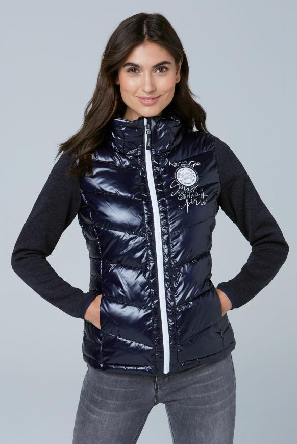 Outdoorjacke im Materialmix dark blue