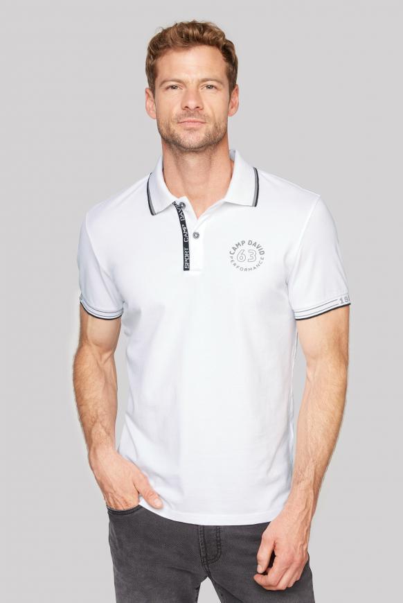 Poloshirt aus Pikee mit Logo Artworks opticwhite