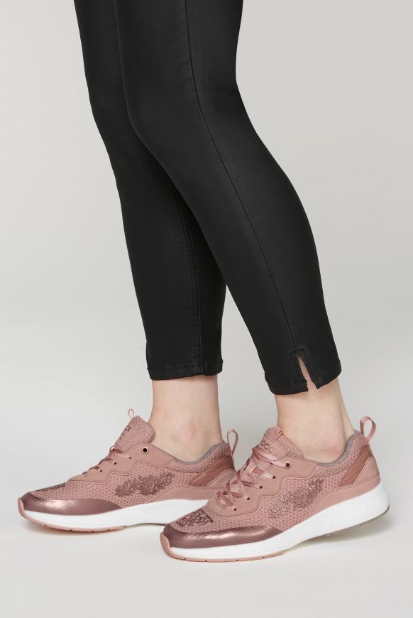 Premium Sneaker im Metallic Look metallic powder