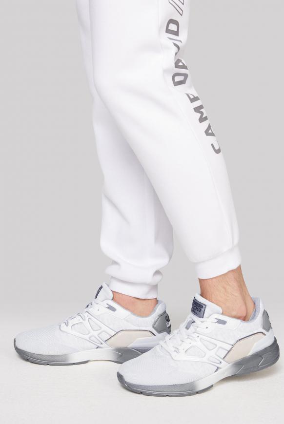 Premium Sneaker mit Strick-Design white