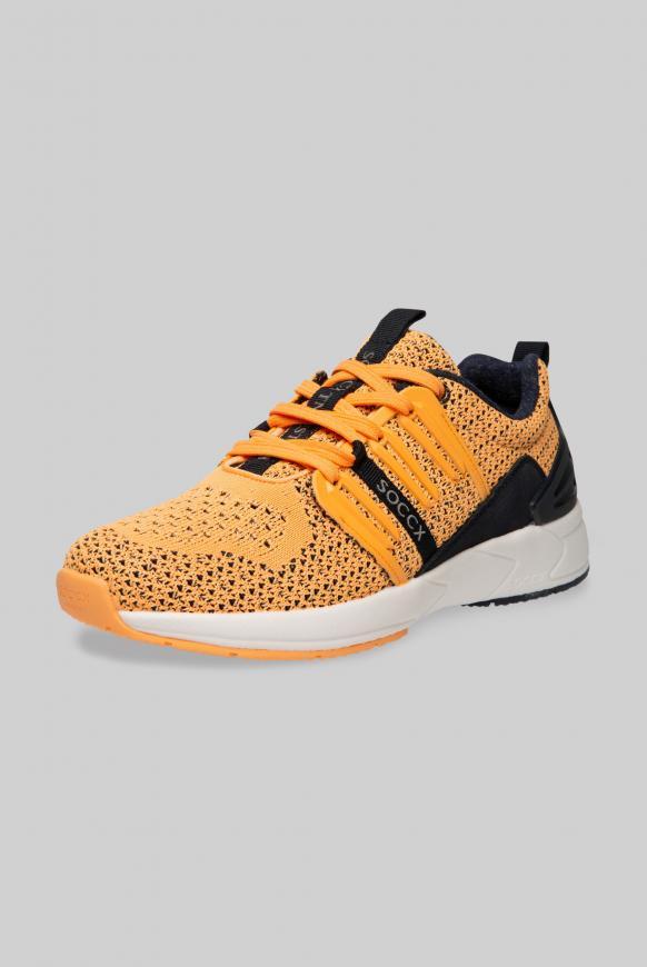 Premium Sneaker mit Strick-Struktur sunrise neon