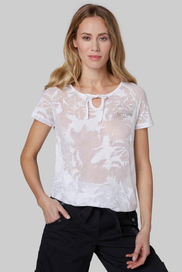 Shirt mit Ausbrenner-Muster opticwhite
