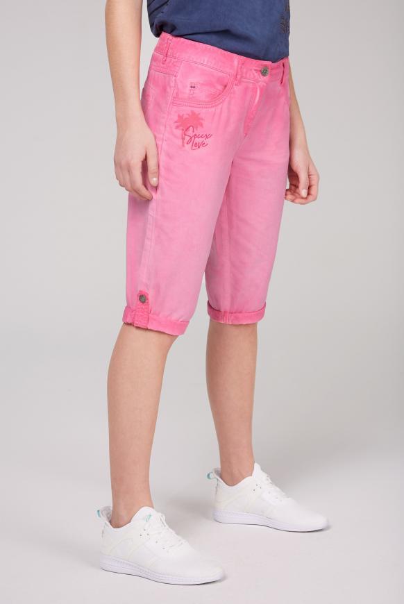 Skater-Bermuda mit verstellbarer Beinlänge oriental pink