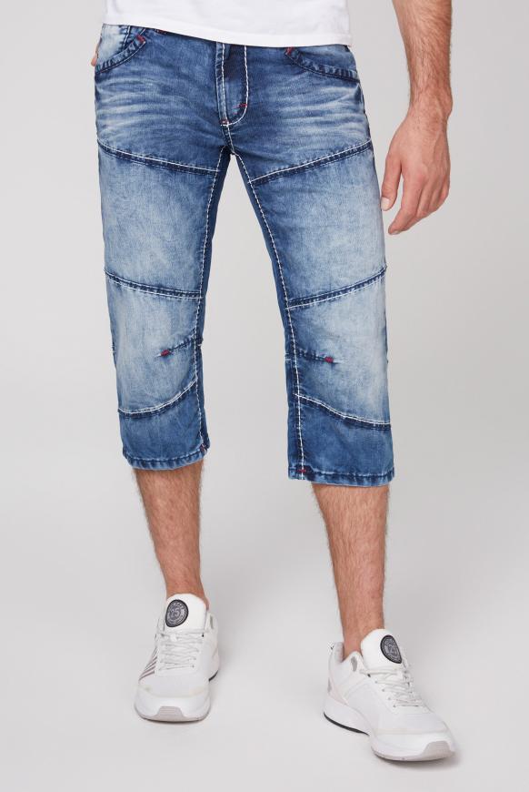 Skater Shorts HE:RY mit Bleaching-Effekten