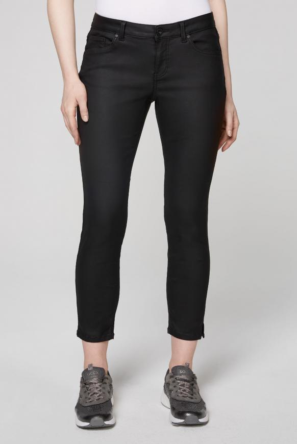Slim Fit Jeans MI:RA mit Beschichtung black