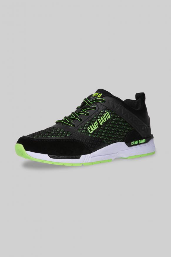 Sneaker aus Mesh mit 3D-Logo-Design black
