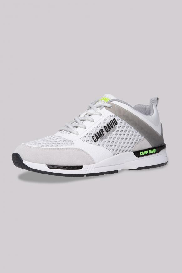 Sneaker aus Mesh mit 3D-Logo-Design opticwhite
