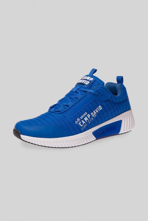 Sneaker aus Mesh mit Streifen-Dessin action blue