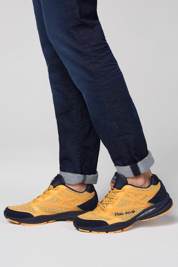 Sportlicher Sneaker mit Strick-Struktur sunrise orange