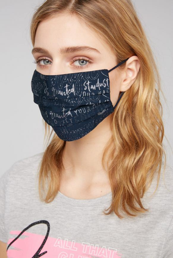 Stoffmaske mit Glitzer-Print im 4er Pack diverses