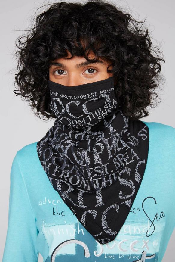 Stoffmaske mit Triangle-Tuch und Logo Design black