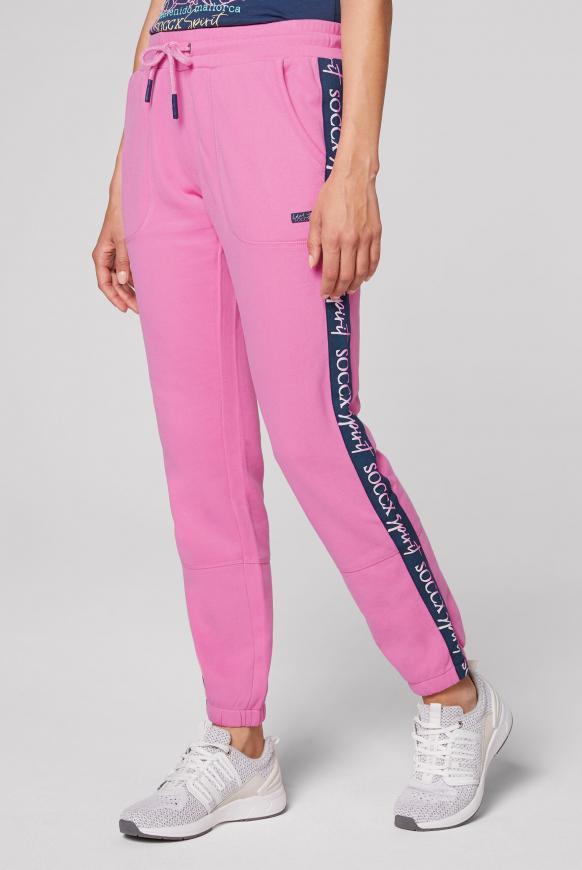 Sweathose mit Logo-Tapes pink lemonade