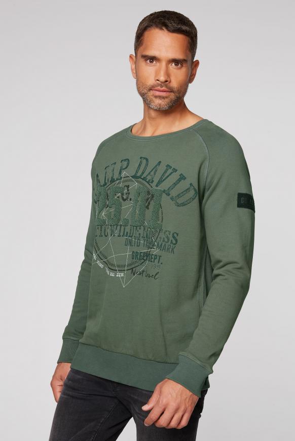 Sweatshirt mit Frottee-Artwork pine