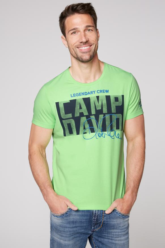 T-Shirt mit Special Rubber Prints neon green