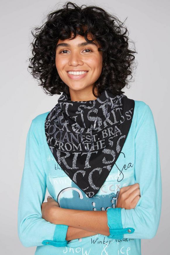 Triangle-Tuch mit Logo Design black