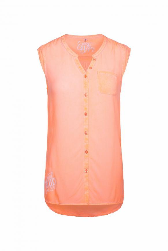 Ärmellose Bluse mit Rücken-Artwork spicy orange