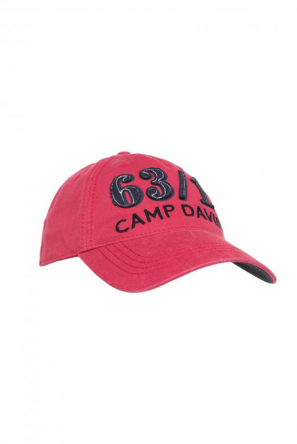 Base Cap Stone Washed mit Artwork yacht red