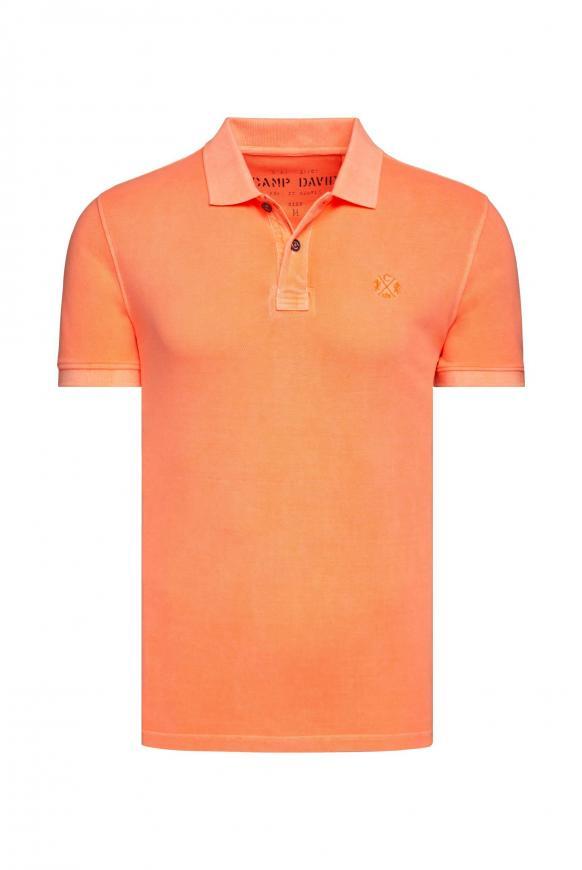 Basic Kurzarmpolo aus Piquee neon orange