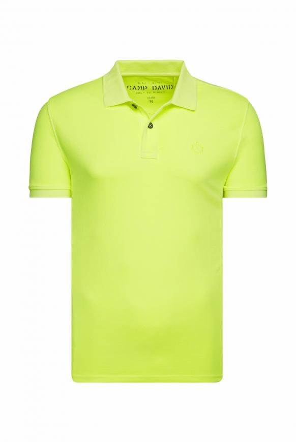 Basic Kurzarmpolo aus Piquee neon lime