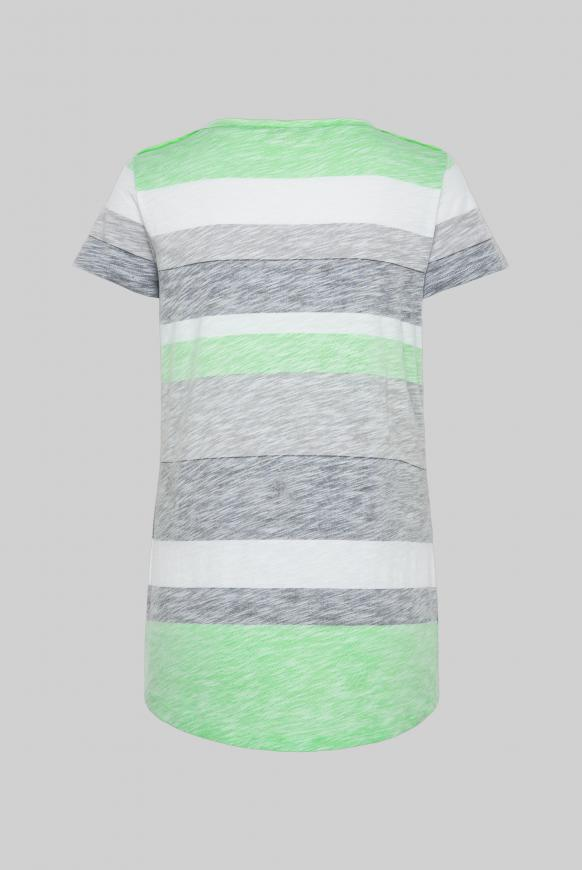 Buntes Streifenshirt mit Glitter Print multi color