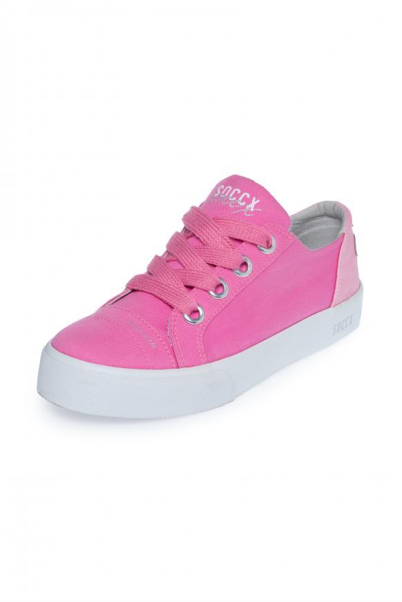 Canvas Sneaker mit Plateau-Sohle lush rose