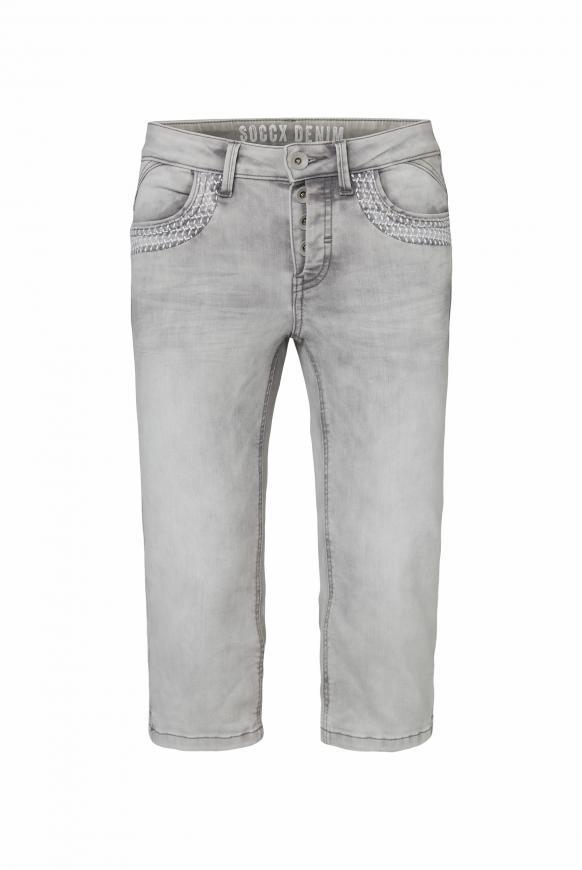 Capri Jeans KY:LI mit Taschenstickerei salt rock wash