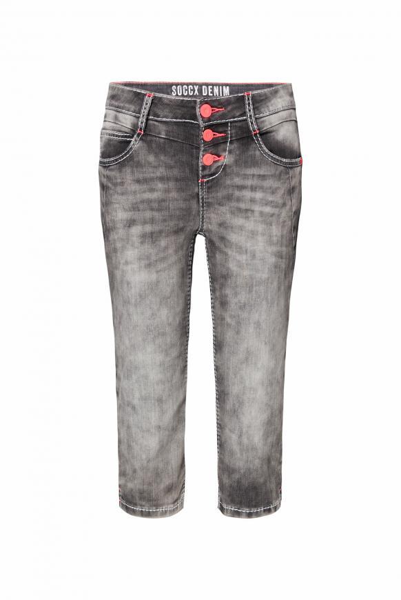 Capri Jeans LY:IA mit Kontrastknöpfen dark grey used